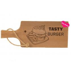 Opdienplank type tasty burger